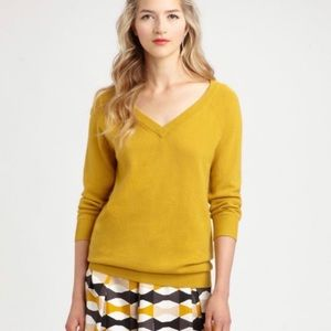 Kate Spade Mustard Yellow Wool/Cashmere Sweater